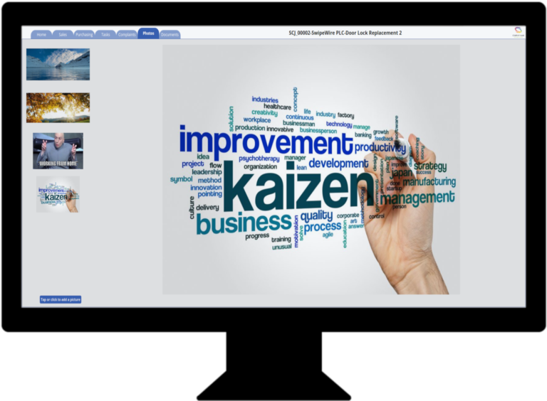 Job Management App - Job Photo Screen (In Monitor)